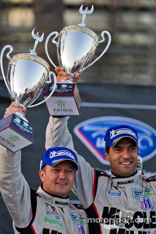Podium: race winners Klaus Graf and Lucas Luhr