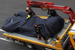 Jean-Eric Vergne, Scuderia Toro Rosso stopped on the track
