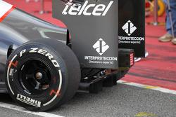Rear turning vane on the Sauber