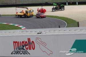 Fernando Alonso, Scuderia Ferrari car is recovered