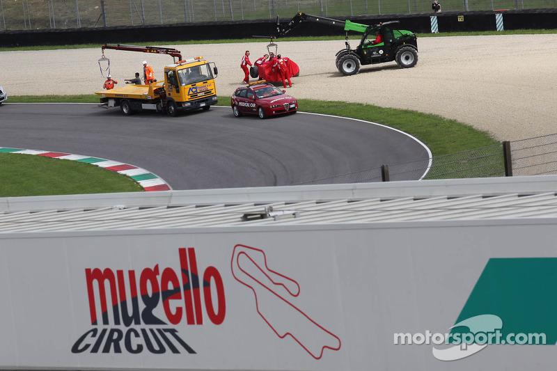 Fernando Alonso, Scuderia Ferrari wagen na crash