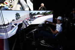 Lance Stroll, Williams. drives a lap of the Circuit Gilles Villeneuve on a simulator