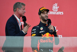 David Coulthard, Channel Four TV Commentator and Daniel Ricciardo, Red Bull Racing