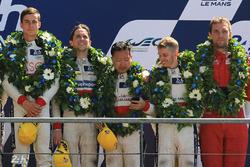 LMP2 Podyum: Thomas Laurent, DC Racing, 3. David Cheng, Alex Brundle, Tristan Gommendy, DC Racing