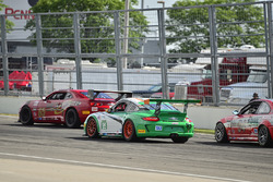 #65 TA4 Chevrolet Camaro, Joe Bogetich, #64 TA3 BMW E46 M3, Larry Funk , #95 TA3 Porsche 997 Cup, Connor Flynn, Irish Mike's Racing