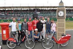 Stoffel Vandoorne, McLaren, Marc Gene, Ferrari, Jenson Button, McLaren and Natalie Pinkham, Sky TV, the Santander bikes