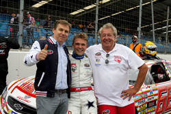 Maciej Dreszer, DF1 Racing mit Norbert Walchhofer, DF1 Racing und seinem Vater