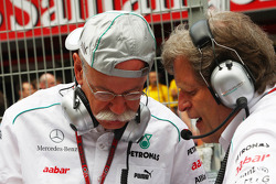 Dr. Dieter Zetsche, Daimler AG CEO with Norbert Haug, Mercedes Sporting Director on the grid