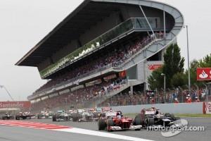 Start of Spanish Grand Prix in Barcelona, 2012