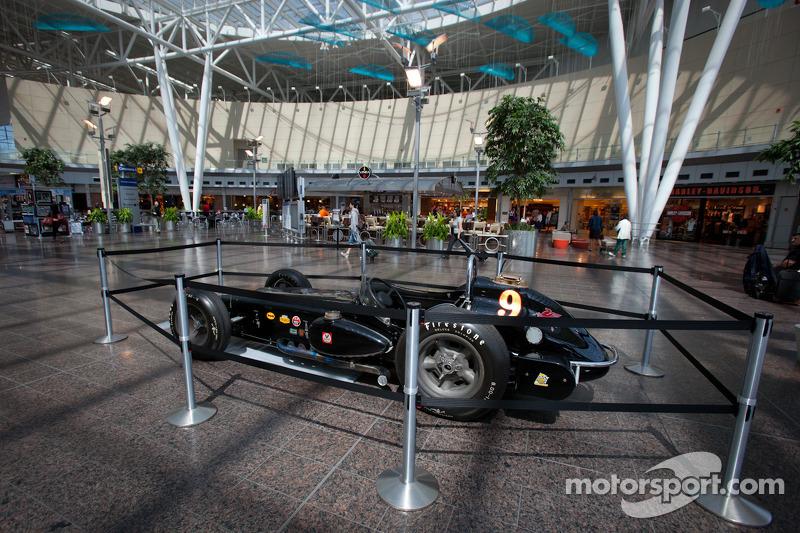 Indycar display at Indianapolis International Airport