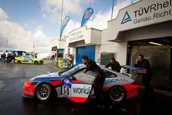 #50 raceunion Teichmann Racing Porsche 911 GT3 Cup at technical inspection