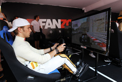 Dani Clos, HRT Formula One Team F112 Test Driver at the Fanzone
