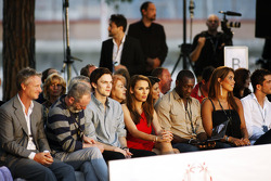 Nicholas Hoult, Actor and Emile Heskey, Football Player at the Amber Lounge Fashion Show