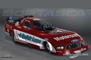 Tribute paint scheme for Motorcraft Racing