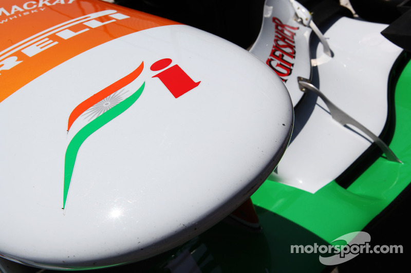 Sahara Force India F1 VJM05 neus