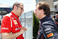 Stefano Domenicali, Scuderia Ferrari General Director with Christian Horner, Red Bull Racing Team Principal