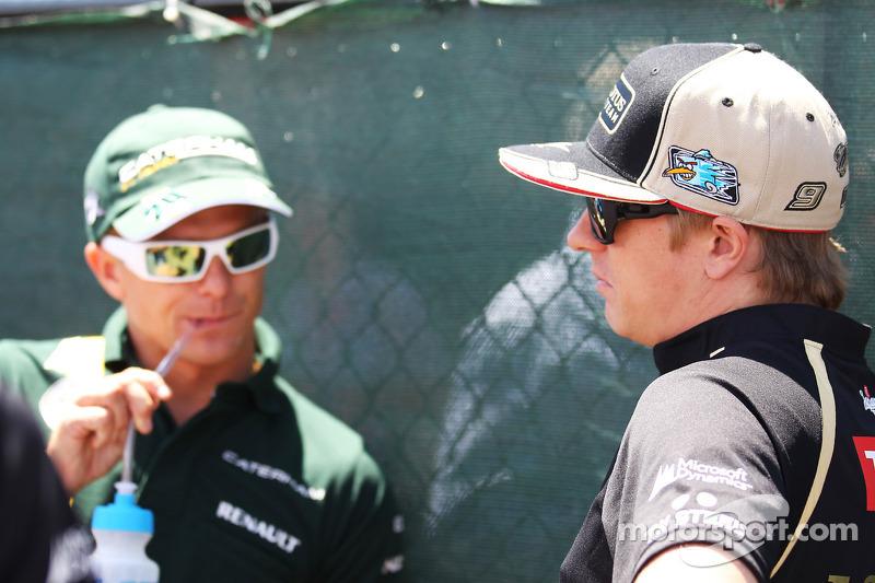 Heikki Kovalainen, Caterham and Kimi Raikkonen, Lotus F1 Team