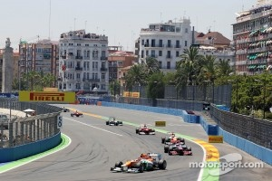 F1 race in Valencia.