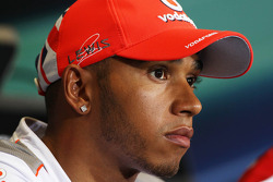Lewis Hamilton, McLaren Mercedes Mercedes in the FIA Press Conference