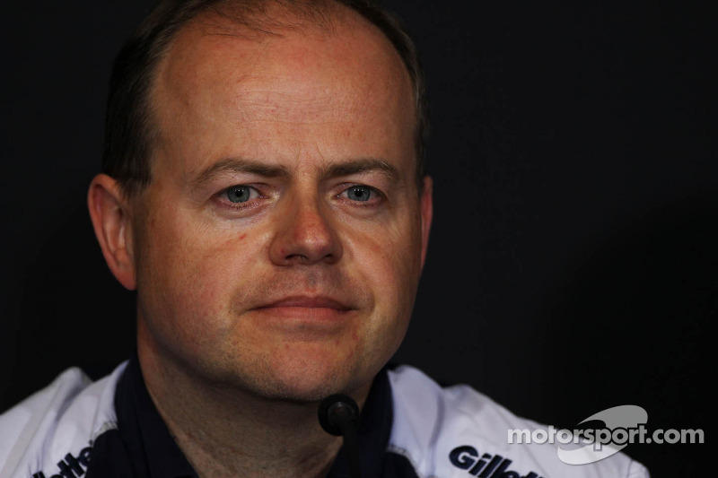 Mark Gillan, Williams Chief Operations Engineer in the FIA Press Conference