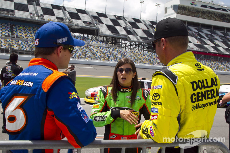 Ricky Stenhouse Jr., Danica Patrick en Clint Bowyer