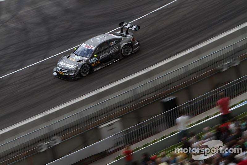 Sunday Round One Ralf Schumacher, Team HWA AMG Mercedes, AMG Mercedes C-Coupe against Miguel Molina, Audi Sport Team Phoenix Racing Audi A5 DTM