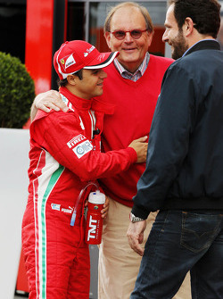 Felipe Massa, Scuderia Ferrari with Matteo Bonciani, FIA Media Delegate