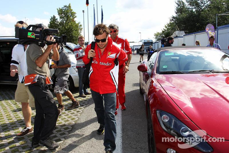 Fernando Alonso, Ferrari arrives at the circuit