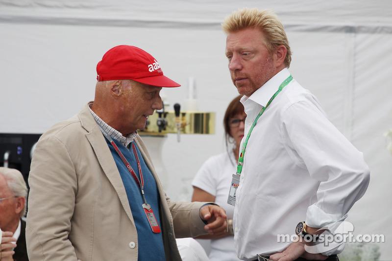 Niki Lauda, with Boris Becker, Tennis Legend