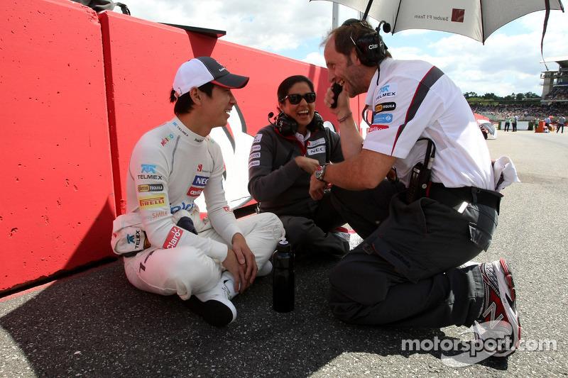 Kamui Kobayashi, Sauber F1 Team and Monisha Kaltenborn, Managing director, Sauber F1 Team