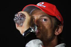 Jenson Button, McLaren ion the FIA Press Conference
