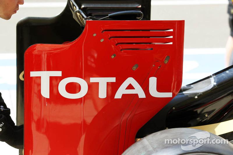 Lotus F1 achtervleugel
