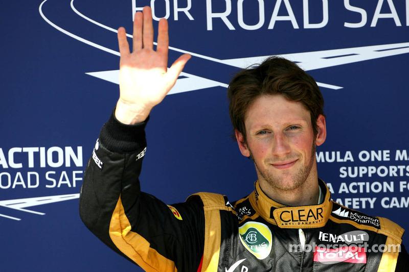 La única primera fila de Grosjean... por ahora