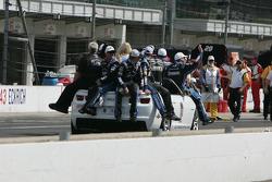 Victory lane: winner Jimmie Johnson, Hendrick Motorsports Chevrolet