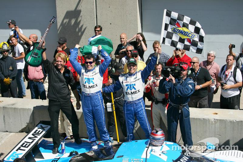 Race winners Scott Pruett and Memo Rojas