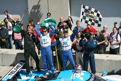 Race winners Scott Pruett and Memo Rojas