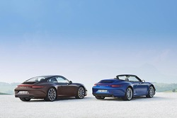 The Porsche 911 Carrera 4 Cabriolet and Porsche 911 Carrera 4S