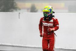 Felipe Massa, Ferrari stopt bij ingang pitlane