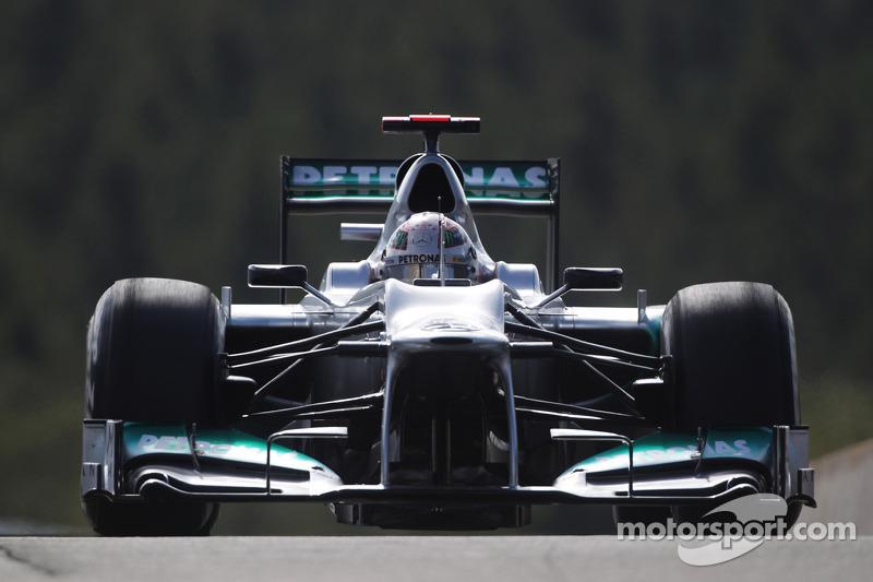 Михаэль Шумахер. ГП Бельгии, Субботняя квалификация.