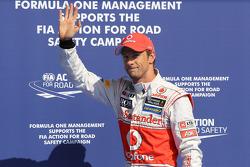 Polepositie Jenson Button, McLaren Mercedes