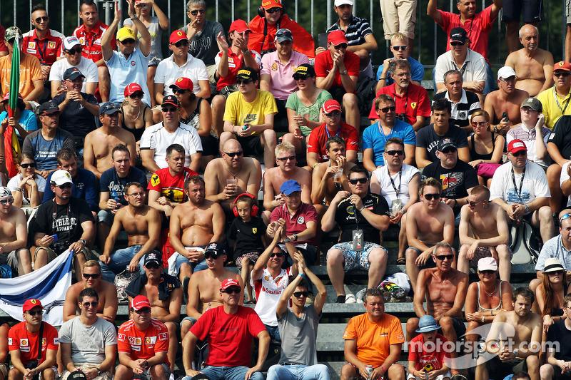 Fans in de tribune