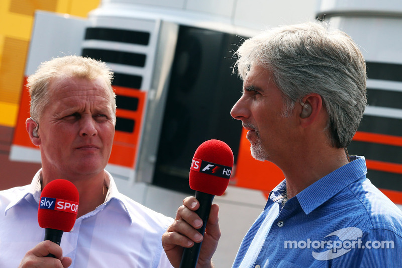 Johnny Herbert,  Sky Sports Presenter met Damon Hill, Sky Sports Presentator
