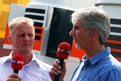 Johnny Herbert,  Sky Sports Presenter with Damon Hill, Sky Sports Presenter