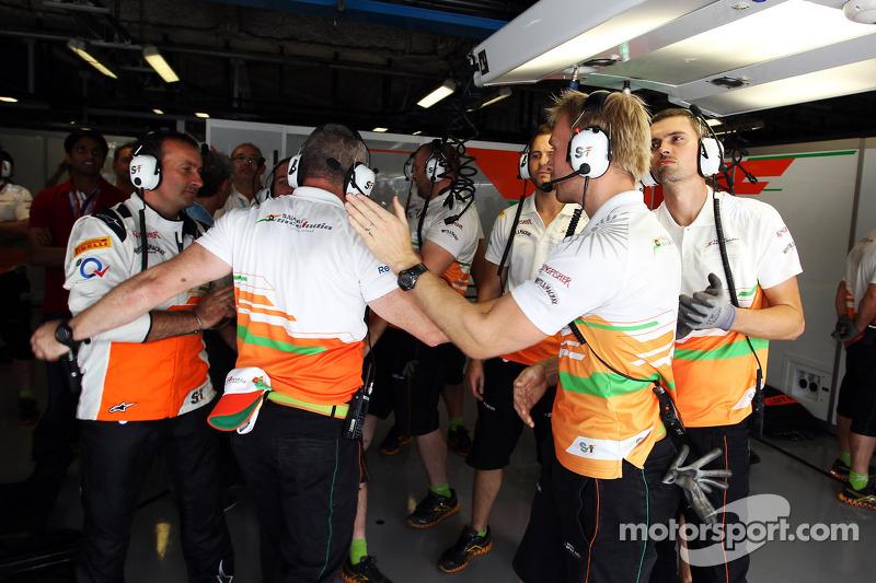 Sahara Force India F1 Team viert vierde plaats in kwalificaties voor Paul di Resta, Sahara Force Ind