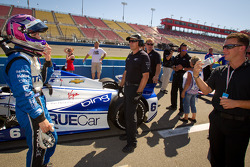 Katherine Legge, Dragon Racing Chevrolet and A.J. Allmendinger share a laugh