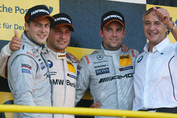 Podium: Gary Paffett, Team HWA AMG Mercedes, AMG Mercedes C-Coupe, Bruno Spengler, BMW Team Schnitzer BMW M3 DTM, AMG Mercedes C-Coupe and Charly Lamm, Teammanager BMW Team Schnitzer