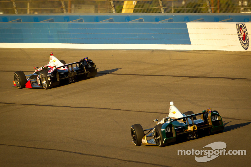 Ryan Briscoe, Team Penske Chevrolet en Ed Carpenter, Ed Carpenter Racing Chevrolet