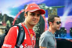 Felipe Massa, Ferrari met manager Nicolas Todt