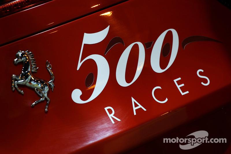 Ferrari viert 500 races
