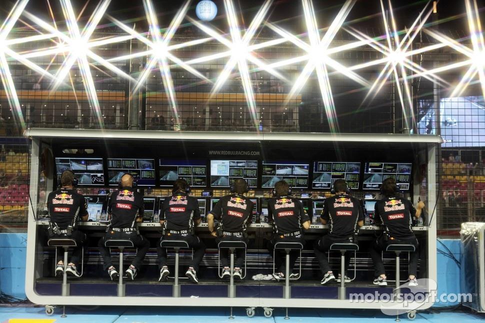Red Bull Racing pit gantry